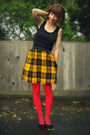 Black-diy-fringed-top-yellow-self-made-skirt-red-we-love-colors-tights