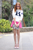 bubble gum Miu Miu sunglasses - white college sammydress sweater