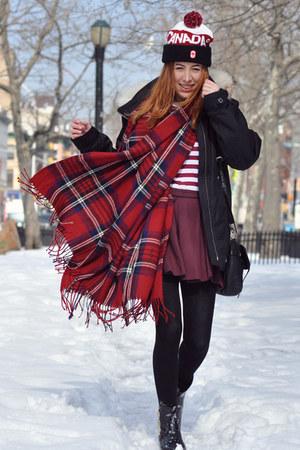 ruby red tartan PERSUNMALL scarf