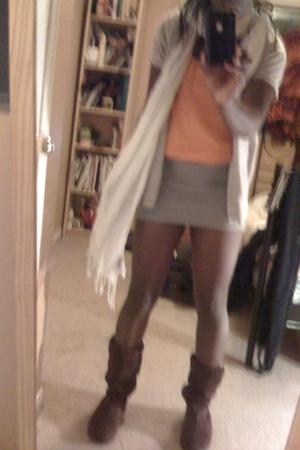 H&M shirt - Costa Blanca scarf - Zara skirt