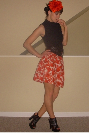 Forever21 skirt - Forever21 blouse - Alice  Olivia shoes - H&amp;M accessories - For