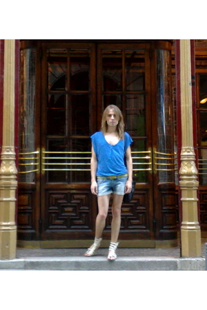 Zara t-shirt - Bershka jeans - Zara shoes - vivienne westwood purse