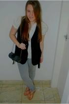 vest - blouse - shoes - pants - accessories