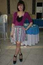Forever 21 skirt - magenta Dorothy Perkins top
