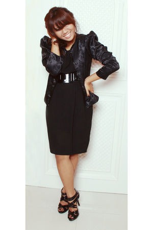 Topshop dress - Loveculturemultiplycom blazer - vnc shoes - random store belt