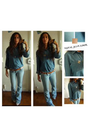 jean Diesel jeans - suede M boots - jean American Apparel shirt