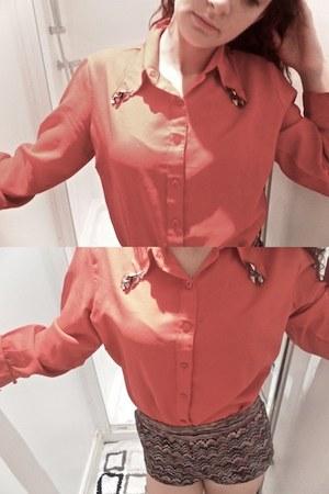 collar vintage shirt - aztect new look shorts