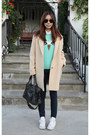Uniqlo-coat-j-brand-jeans-topshop-sweater-balenciaga-bag