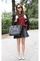 Zara blazer - Celine bag - Karen Walker sunglasses - Zara top