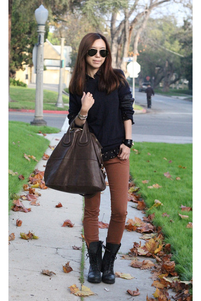 Givenchy bag - Steve Madden shoes - J Brand jeans - H&M sweater