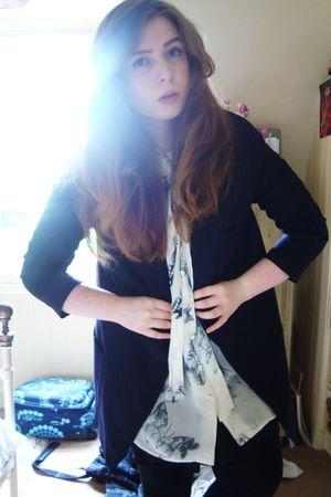 black Topshop blazer - white Topshop shirt