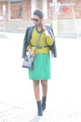 Black-suede-h-m-boots-green-pencil-skirt-h-m-dress