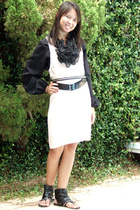 vintage blouse - Alexander Wang dress - Target belt -