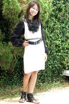 vintage blouse - Alexander Wang dress - Target belt -