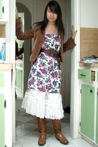 BCBG blazer - vintage skirt - vintage skirt -