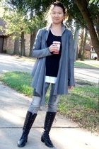 A favorite: Leather Cardigan