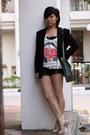 Black-blazer-white-forever21-top-black-forever21-shorts-beige-charles-ke