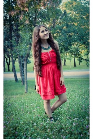 red Atmosphere dress - turquoise blue PuzzleArts accessories