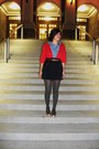 Blue-fossil-blouse-red-american-eagle-sweater-blue-tommy-hilfiger-skirt-gr