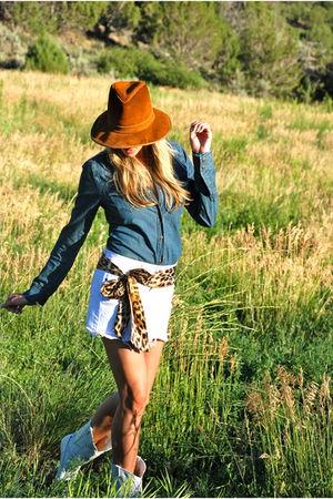Levis shirt - True Religion skirt - silk leopard scarf - vintage boots - vintage
