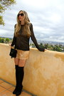 Black-crochet-vtg-sweater-black-suede-louboutins-boots