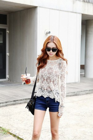 ivory aria lace shirt Filthy Magic top