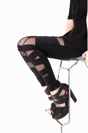 black criss cross Filthy Magic leggings
