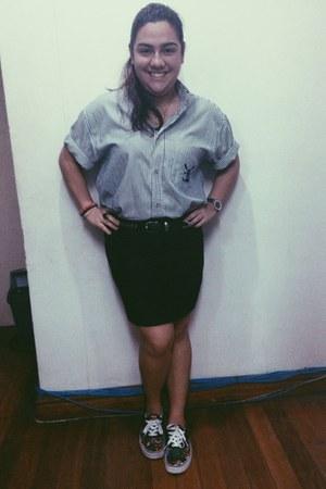black body come skirt skirt - black sneakers