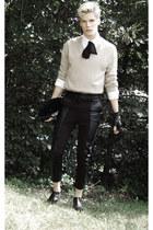 American Apparel tie - Topman boots - vintage sweater - vintage shirt