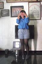 romwe tights - Charles & Keith heels