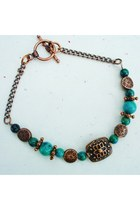 turquoise blue copperstone Fire In The Sky bracelet