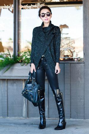 Sheinside cardigan - Sigerson Morrison boots - Paige jeans