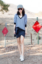 dark gray skirt - Leith skirt - Senso boots - Nordstrom hat - Leith sweater