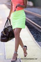 JCrew skirt - JCrew t-shirt - Tibi sandals