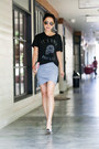 Ray-ban-sunglasses-zoe-karssen-t-shirt-manolo-blahnik-pumps