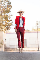 red Marc by Marc Jacobs blazer - red fall blazer blazer