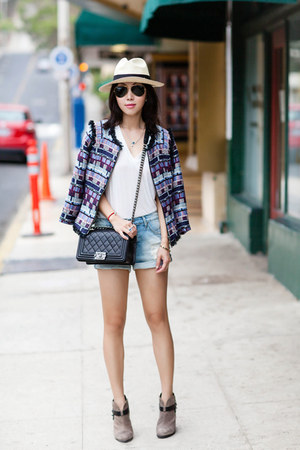 milly jacket - Anine Bing shorts