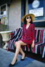Splendid-dress-nordstrom-hat-ray-ban-sunglasses