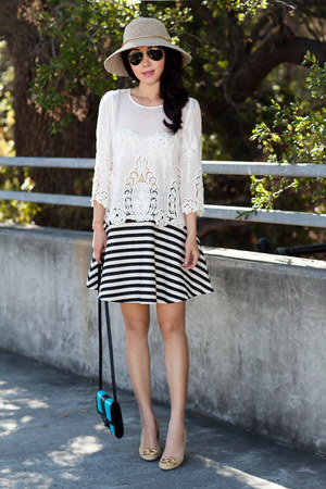 Dolce Vita blouse - Michael Kors bag - Anthropologie skirt