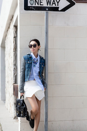 navy jacket - rag & bone jacket - Jeffery Campbell boots - Zara shorts