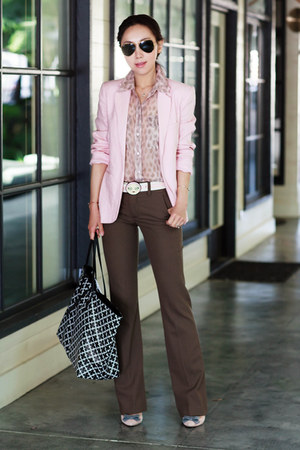 Joie blazer - Theory pants - Equipment top - JCrew heels