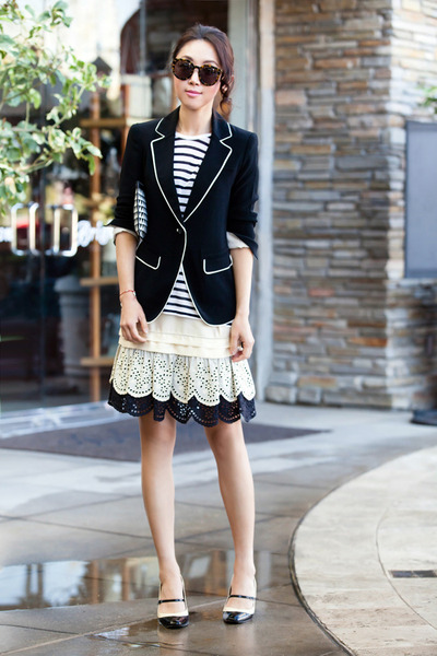 Skaist Taylor skirt - Elizabeth and James blazer - Via Spiga heels