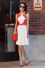 Ted-baker-dress-light-pink-dress-kate-spade-bag-red-bag