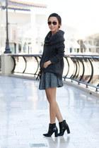 Tibi boots - Anthropologie sweater - Louis Vuitton bag - ray-ban glasses