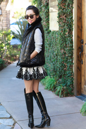 Sigerson Morrison boots - Marc by Marc Jacobs sweater - robert rodriguez skirt