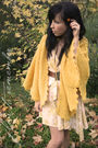 Yellow-vintage-coat-yellow-love-st-dress-brown-vintage-belt-gold-vintage-e
