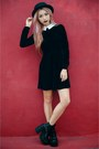 Black-boots-black-dress-black-hat