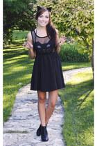 black romwe dress