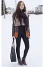 Light-brown-forever-21-boots-burnt-orange-forever-21-blazer