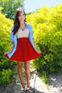 Red-romwe-skirt